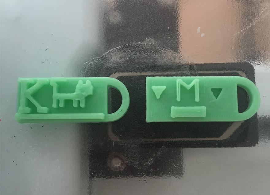 first 3D prints
