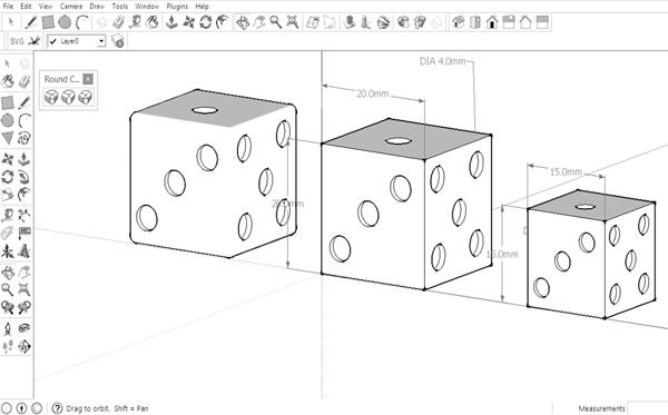 BCA 3d printing in schools dice